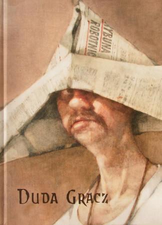 """fragment autoportretu, Okładka katalogu, """"Duda Gracz"""""""