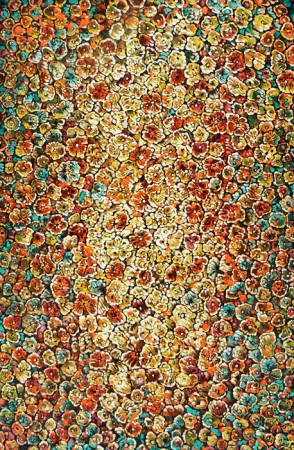 """Lech Kołodziejczyk, """"Ogród ciemnośco 6"""", 2005, olej na płótnie, wymiary 140x90 cm"""