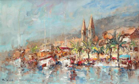 """Kornel Wilczek, """"Lipiec w Dalmacji"""", 2015, olej na płótnie, wymiary 50x80 cm"""
