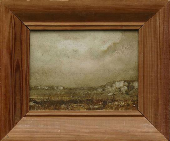 """3 Jerzy Duda-Gracz """"Obraz Jurajski"""", 1984, olej na płycie, wymiary bez ramy 16.5x21.5 cm /Nr. Katalogowy Autorski 851/, / NIEDOSTĘPNY"""