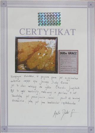 """Jerzy Duda -Gracz, Z cyklu """"Obrazy Jurajskie, Hucisko – 4"""", certyfikat autentyczności"""