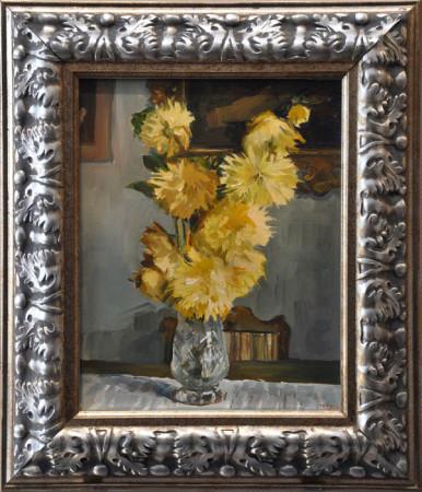 """Janusz Szpyt, """"Astry"""", 2006, olej na desce, wymiary 37x30 cm, / WYMIARY OBRAZÓW SĄ BEZ RAM, / SPRZEDANY"""