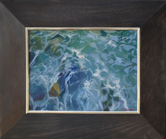 """Janusz Szpyt, """"Woda"""", 2011, akryl na desce, wymiary 38x45,5 cm"""