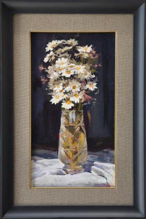 """Janusz Szpyt, """"Rumiany"""", 2014, olej na desce, wymiary 47x26 cm"""