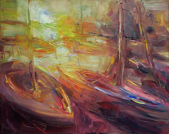"""Marta Lipowska """"Marina XIV"""", olej na płótnie, wymiary 40x50 cm, /755"""