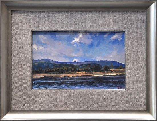 """Janusz Szpyt, """"Mekong"""", 2013, akryl na desce, wymiary 21x33 cm"""