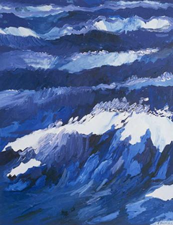 """Edward Dwurnik,    """"Nr.56"""", 1992-1993, olej na płótnie, wymiary 146x114 cm"""