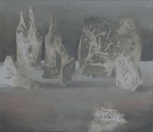 """Łukasz Huculak, """"Hommage a Morandi"""", 2011, olej na płótnie, wymiary 50x70cm"""