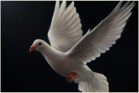 """""""Biały gołąb"""", detal 5"""