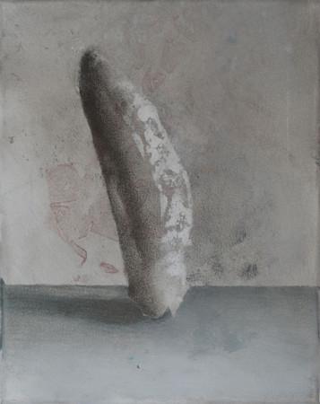 """Łukasz Huculak """"Muszelka 2"""", 2012, olej na płótnie, wymiary 24x30 cm"""