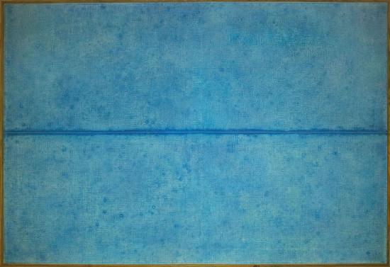 """Józef Hałas, """"Podział W"""", 1974, olej na płótnie wymiary 100x150 cm"""