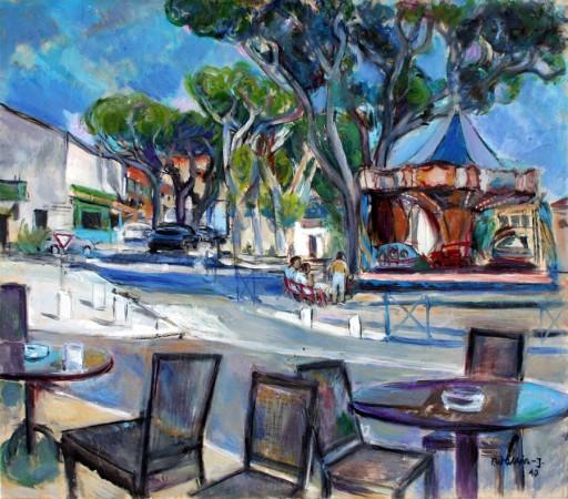 """Teresa Wallis-Joniak, """"W St. Remy"""", 2010, olej na płótnie, wymiary 66x76 cm, / SPRZEDANY"""