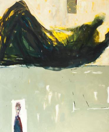 """Janusz Karbowniczek, """"Jest bardzo dobrze"""", 2014, olej na płótnie, wymiary 120x100 cm"""