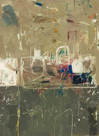 """Janusz Karbowniczek, """"Martwa natura rysowana"""", 2012, olej na płótnie, wymiary 33x24 cm"""