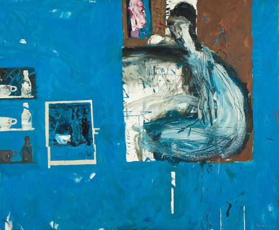 """5. Janusz Karbowniczek, """"Preludium"""", 2008, olej na płótnie, wymiary 100x120 cm"""