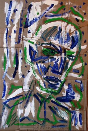 """Zdzisław Nitka """"E.L. Kirchner"""", 2010, olej na kartonie, wymiary 95x65 cm"""