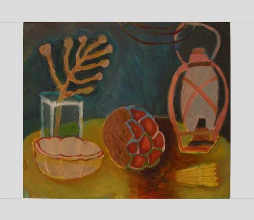 """4 Yolanty Nikt """"Martwa Natura"""", 2010, olej na płótnie, wymiary 60x70 cm"""