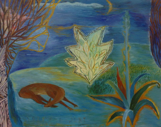 """Yolanta Nikt, """"Noc"""", 1998, olej na płótnie, wymiary 80x100 cm, / KOLEKCJA GALERII"""