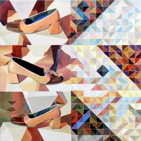 """Krzysztof Wróblewski, """"Gina"""", 2012, olej na płótnie, 110×110 cm"""