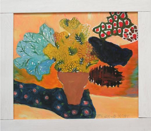 """Yolanty Nikt """"Martwa Naturka"""", 2013, olej na płótnie, wymiary 60x70 cm, / KOLEKCJA GALERII"""