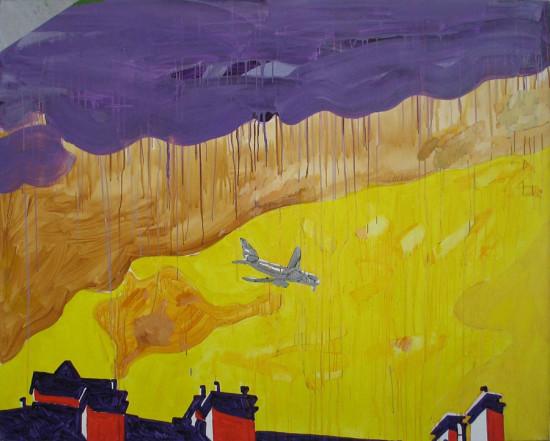 """Ryszard Grzyb """"Kim jest ten kto zaczyna podróż"""" 2008r. akryl/pł., wym.: 180x140cm"""
