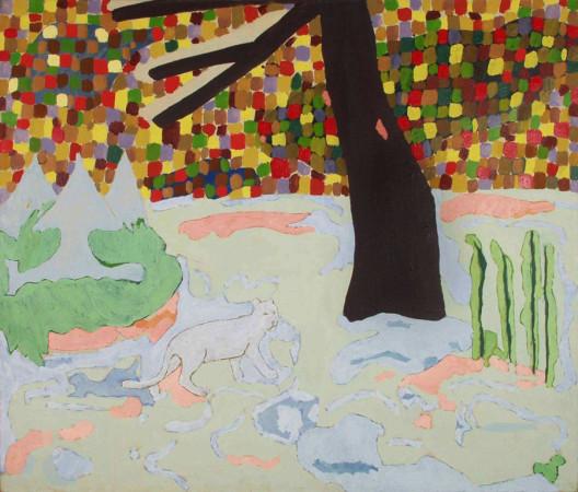 """Ryszard Grzyb """"Sala pamięci 2"""" 1992r, olej na płótnie, wym. 120 x 140 cm"""