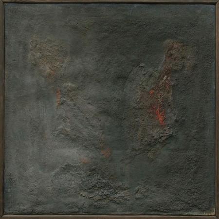 """Barbara Jonscher """"Spalony bukiet"""", niedatowany, olej na ołótnie, wymiary 48x48 cm, /obraz był prezentowany na indywidualnej wystawie Barbary Jonscher, Laureaci nagrody im. Jana Cybisa, w Muzeum Śląska Opolskiego  w Opolu, 2011, oraz jest reprodukowany w katalogu z tej wystawy"""