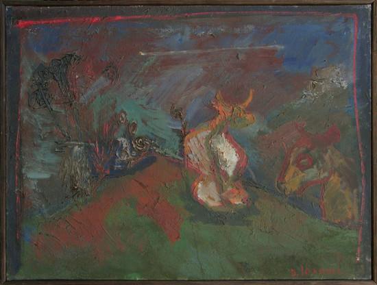 """Barbara Jonscher """"Przed Burzą"""", niedatowany, olej na płótnie, wymiry 60 x 80 cm"""