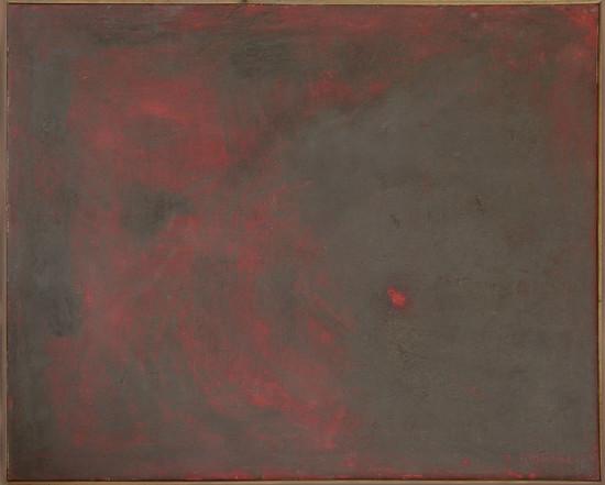 """Barbara Jonscher """"Pył i ogień"""", 1978, olej na płótnie, wymiary 65×80 cm"""