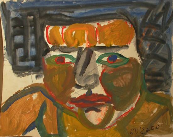 """Wiesław Obrzydowski, """"Miłka, córka artysty"""", 2000, akryl, na kartonie, wymiary 38×47,5 cm, /42"""