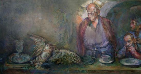 """Beata Bigaj """"Bez tytułu"""",  2015, olej na płótnie, wymiary 100x190 cm, /27"""