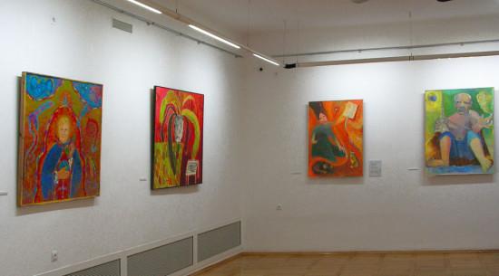 ekspozycja obrazów Jolanty Nikt w BWA w Rzeszowie, 2018